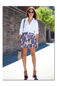#minifalda y #camisa anudada