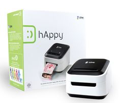 ZINK hAppy Smart App Printer™ | ZINK®. Saw this last night debut.... In ink cartridge--- paper is infused with color crystals. New technology !!