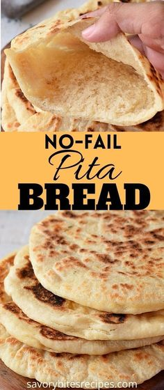 Learn how to make these best,easy homemade pita bread recipe. This is no fail pita pockets recipe with grilled chicken,greek tzatziki makes a healthy breakfast/luch or dinner ideas. This pita bread recipe makes the best wraps that you love. #savorybitesrecipes #pitabread #recipe #wraps #grilledchicken #wraps #pitapockets