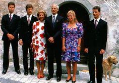 HSH Hans-Adam II Prince of Liechtenstein and family 1980's