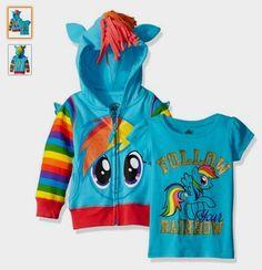 My Little Pony Girls' Rainbow Dash Hoodie: http://amzn.to/2aYVuAg