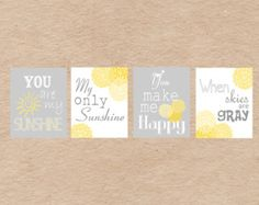 Elephant You Are My Sunshine 8x10 Nursery Art by DecorableDesigns