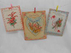 Antique Valentine Card Lot of 3 Teacher Vintage 1940s 1930s | eBay