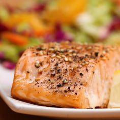 Sesame Salmon With Orange Slaw Recipe by Tasty Slaw Recipes, Fish Recipes, Seafood Recipes, Cooking Recipes, Healthy Recipes, Cajun Cooking, Baked Salmon Recipes, Cooking Bacon, Snacks Recipes