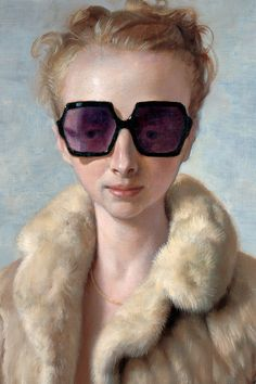 "John Currin, ""Rachel in Fur""/  i went to college with the real-Rachel."