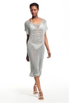 Beacon Space Dyed Crochet Tunic Dress