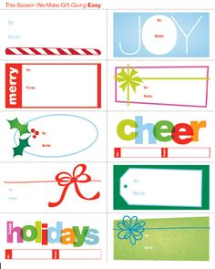 Downloadable: Holiday Gift Tags