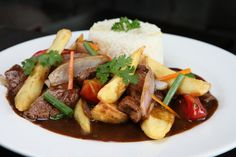 Lomo Saltado from Peru. It can be easily done anywhere with such simple ingredients!
