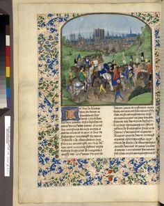 Français 2645, fol. 321v, Arrivée de Louis II d'Anjou à Paris