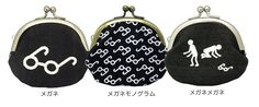 japanese coin case glasses   'メガネがま口'