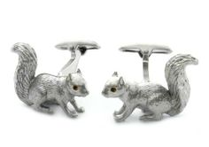 Squirrel Cufflinks by Cuff-Daddy Cuff-Daddy. $39.99. Arrives in hard-sided, presentation box suitable for gifting.. Made by SAFARI