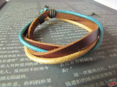10OFF Discount 4 Cricles Brown Leather Bracelet by sevenvsxiao, $3.00