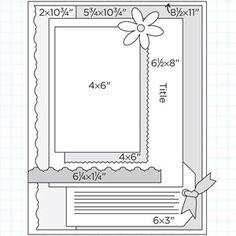 Scrapbook Page Sketch 295