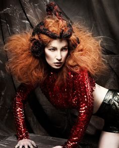 Large image of Long Red wavy hairstyles provided by Anne Veck Hair. Picture Number 22152
