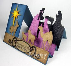 Side-Step Nativity Card by KristineB - Cards and Paper Crafts at Splitcoaststampers