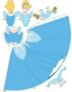 Moldes das princesas da Disney para festa infantil - Espaço Infantil