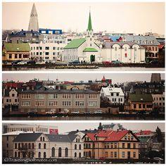 Colorful buildings in Reykjavik, Iceland