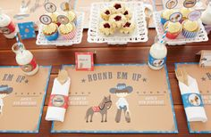 Wild West Party tablesetting