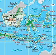 map of Indonesia komodo island