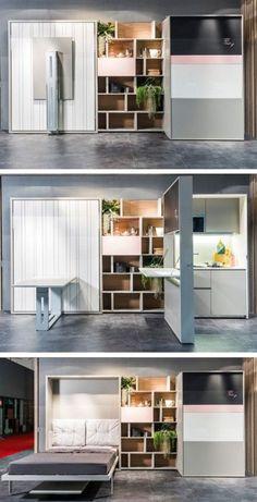 Модульная мебель-трансформер - это идеальная возможность максимально функционально обустроить интерьер малогабаритной квартиры.