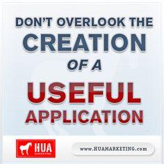 Application creation.