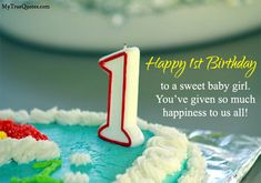 Happy First Birthday Quotes Impresionante My True Quotes and Sayings True Status for Whatsapp Birthday Wishes For Kids, Happy Birthday Wishes Quotes, Happy First Birthday, Happy Birthday Pictures, Baby Boy 1st Birthday, Happy 1st Birthdays, Happy Quotes, True Quotes, Birthday Cards