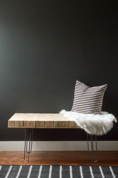 Stacked Plywood Bench