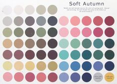 Soft Autumn palette