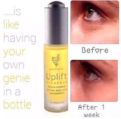 Younique Uplift Eye Serum is designed to hydrate your skin to smooth fine lines & wrinkles, and to tone the skin to reduce dark under eye circles Naturally based, non-oily and a drop or two daily will do!!! https://www.youniqueproducts.com/NicoleBlanchard