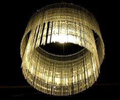 coffee stirrer chandelier