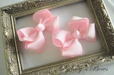 Boutique hair bows hair clip by SydneysBows on Etsy, $2.99