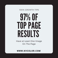 97% of page-one results have at least one image on the page