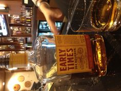 Early Times 354. Hot and oaky with a wide rim finish. Good for rye drinkers and cold nights.