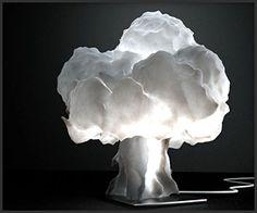 Nuke Lamp - using fluid dynamic simulation to emulate the shape of a mushroom cloud