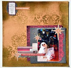 'Christmas Memories layout by Collette Mitrega Design Tean Kaisercraft 'Holy Night' Collection ~ Wendy Schultz ~ Christmas Layouts.