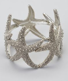 Take a look at this Silver Starfish Bangle by Gabrielle Jewelry on #zulily today! $22 !!