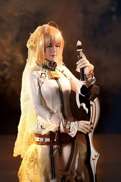 of today is a costume play image [FGO]! Play Image, Steampunk Cosplay, Princess Zelda, Costumes, Bride, Clothes For Women, Sexy, Fictional Characters, Female Outfits