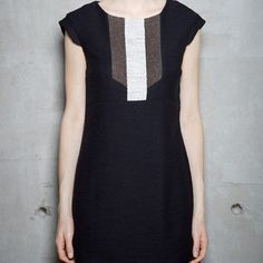 COKLUCH - BOLGAR - NOIR Short Sleeve Dresses, Dresses With Sleeves, Style, Fashion, Tunic, Black People, Gowns, Swag, Moda