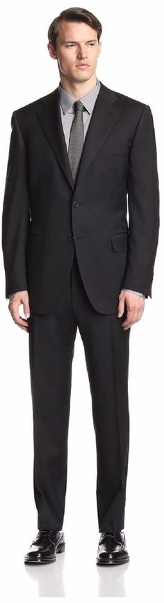 New Canali Mens 31890 Canali Solid 6 Inch Drop Suit Size 52 R Jacket Pants 36 R…