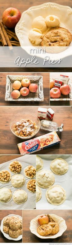 This recipe for mini apple pies will have your house smelling like fall and your tastebuds happy as can be! Try this super easy mini apple pie recipe! Apple Pie Recipes, Best Dessert Recipes, Healthy Desserts, Easy Desserts, Delicious Desserts, Yummy Food, Desert Recipes, Dessert Ideas, Easy Recipes
