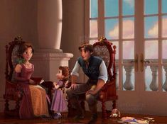 Aww look at the Fitzherbert family. I think it's pathetic how the Corona family couldn't make their own kids, but clearly used kids who have their own parents. Disney Couples, Disney Family, Disney Girls, Disney Art, Disney Movies, Disney Stuff, Princesa Disney Frozen, Disney Rapunzel, Princess Rapunzel