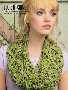 Cachecol Infinito de crochê | Moda em Crochê Cachecol infinito por Anniken Allis -  Simply Crochet - Issue 17