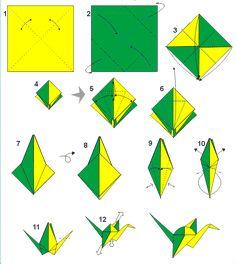 Risultati immagini per origami uccelli
