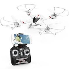 Discounted DBPOWER MJX X400W FPV Drone with Wifi Camera Live Video Headless Mode 2.4GHz 4 Chanel 6 Axis Gyro RTF RC Quadcopter, Compatible with 3D VR Headset