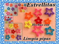 ESTRELLITAS HECHAS CON LIMPIA PIPAS.- STARS MADE WHIT PIPE CLEANERS