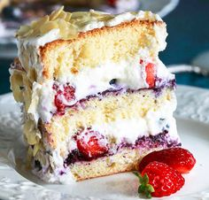 Tort cu mousse de afine si capsuni - Agendautila Diet Recipes, Dessert Recipes, Romanian Food, Vanilla Cake, Mousse, Cheesecake, Deserts, Cookie, Ice Cream