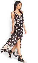 forever 21 rose lace maxi dress
