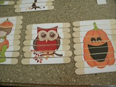 Popsicle stick puzzles. Easy to make, stick in busy bag or purse to keep busy in restaurants etc.