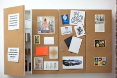 Turn a medicine cabinet into a corkboard with hidden storage for the office