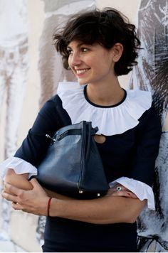 ELLE' S Editor Eva fontanelli wearing Vivetta ss 2010 Pierrot dress